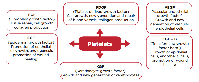 growth factors in platelet rich plasma PRP